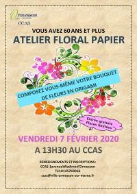 Atelier Art floral papier avec le CCAS