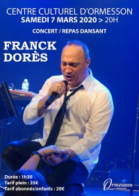 concert-repas dansant avec Franck Dores