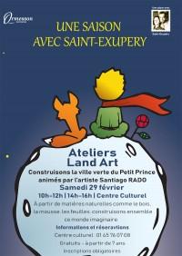 Une saison avec Saint Exupéry : ateliers Land Art
