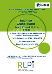 Réunion publique : règlement local de publicité intercommunal